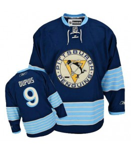 NHL Pascal Dupuis Pittsburgh Penguins Premier New Third Winter Classic Vintage Reebok Jersey - Navy Blue